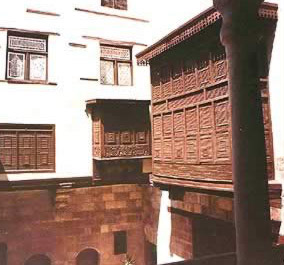 View of the Mashrabeyya of the Harem Qa'a on the first floor.