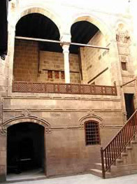 View of the staircase leading to the Maq'ad.