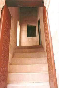 Staircase leading to the main Qa'a on the first floor.