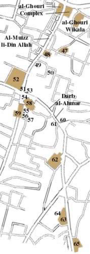 Map Three of Islamic Cairo, Egypt
