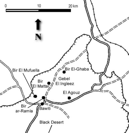 Egypt Map Of Bahariya Oasis - Map of egypt oasis