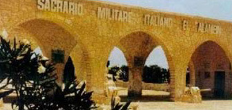 Italian Cemetery at El Alamein in Egypt