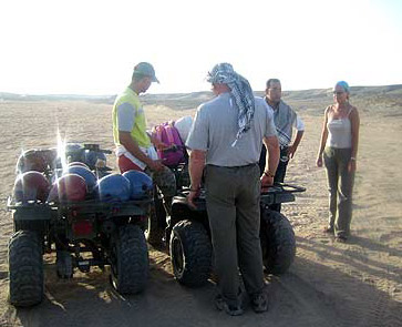 Getting ready to head out into the desert near Marsa Alam