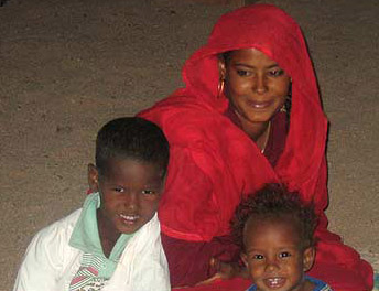 A bedouin family at the tent