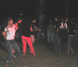 Dancing in the moonlight in Marsa Alam