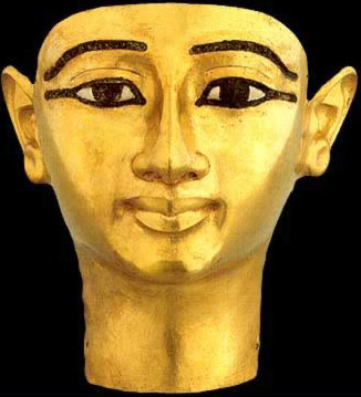 Funerary Mask of Undjebauendjed from the 21st Dynasty reign of Psusennes I