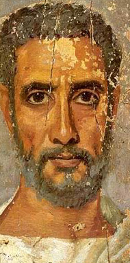 Fayoum style portrait panel dating to the first half of the 2nd century AD