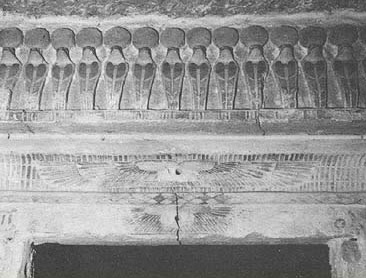 A depiction of cobras in the Unfinished tomb of Mesu-Isis