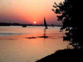 The beautiful and ancient Nile River