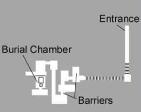 Interior Plan of the  Northern Pyramid at Mazghuna in Egypt