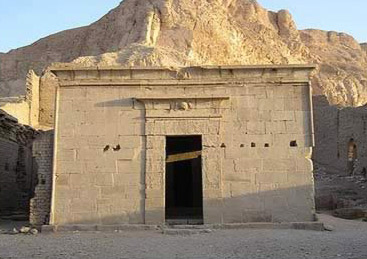 Entrance to the temple of Hathor itself