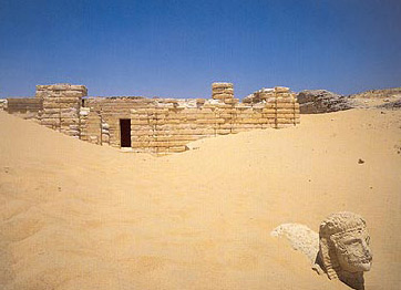 Authorities have often had to fight off the sand from this temple of Medinet Madi on the edge of the desert in the Fayoum