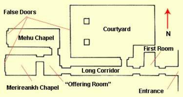 Floorplan of the tomb