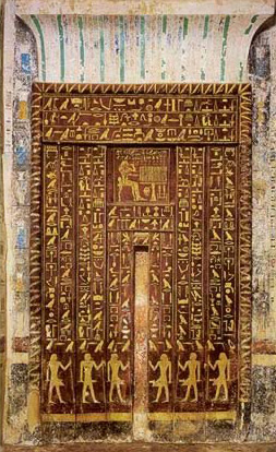The Well Preserved And Well Known False Door Of Mehu