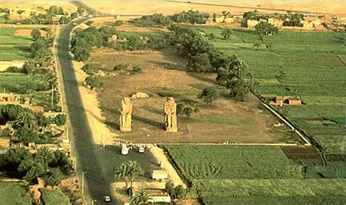 Colossi of Memnon from Balloon