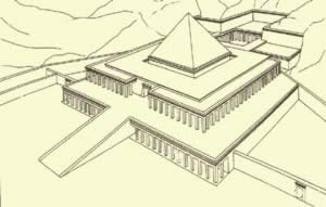 One Idea of how the Mortuary Temple Complex of Mentuhotep II  might have looked in ancient times