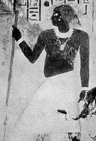 Depiction of Meresankh's father, Kawab, in her tomb