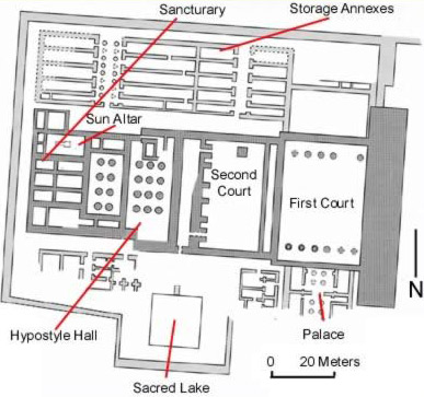 Plan of the Mortuary Temple of Merenptah