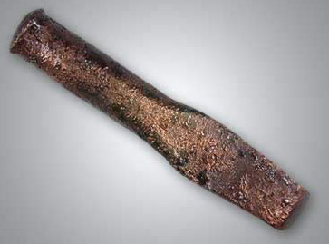 A flat, copper chisel used for stone work in Ancient Egypt