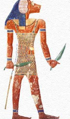 The guardian of the eleventh gate of the Domain of Osiris, Pefesakhuef