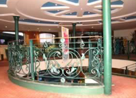 The ship's central staircase