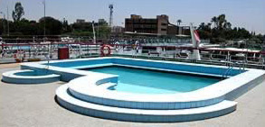The upper deck swimming pool