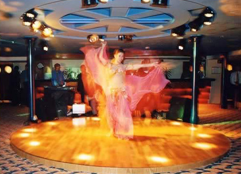A Belly Dancer on the Mirage Cruise Boat