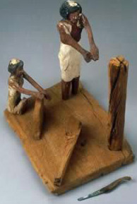 Carpenter Model from a tomb at Deir el-Bersheh (Middle Kingdom)