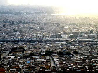 A view of Salah Salem Road from above