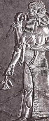 Sargon II of Assyria from a relief at Dur-Sharrukin