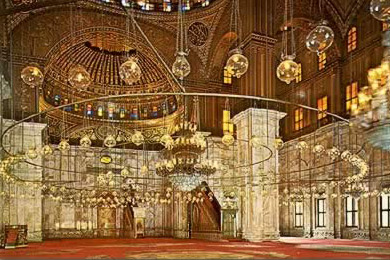 Prayer Hall in the  Mohammed Ali Mosque, Cairo