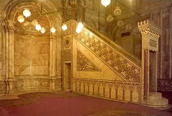 Minbar in the Muhammed Ali Mosque, Cairo
