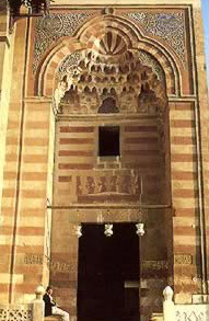 Monumental portal to the  mosque of Barquq, Cairo