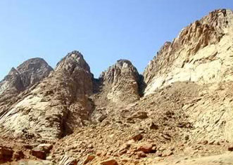 the heigh mountains  with diffrent kinds of plants and animals