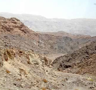 Sinai landscape is full of with ridges of multicolored minerals.