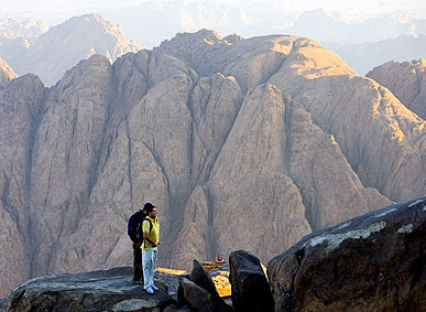 Standing on the summit of Mount Sinai