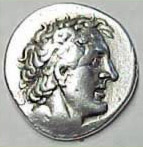 A coin depicting Ptolemy I Soter