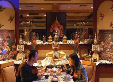 The Thai Restaurant at the Movenpick Pyramid's Hotel in Cairo, Egypt
