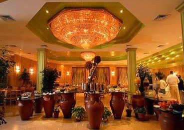 The Lobby of the Movenpick Pyramid Hotel in Cairo, Egypt