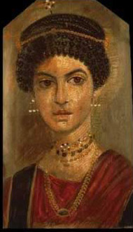 Portrait of a young woman, A.D. 11020, Encaustic on wood