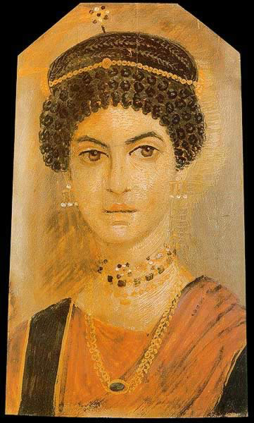 Funerary Portrait Painting of a Young Women From the Roman ...