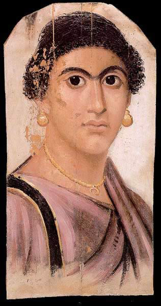Funerary Portrait Painting of a Woman from the Roman Period