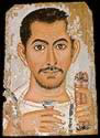 Roman Era Funerary Portrait Painting