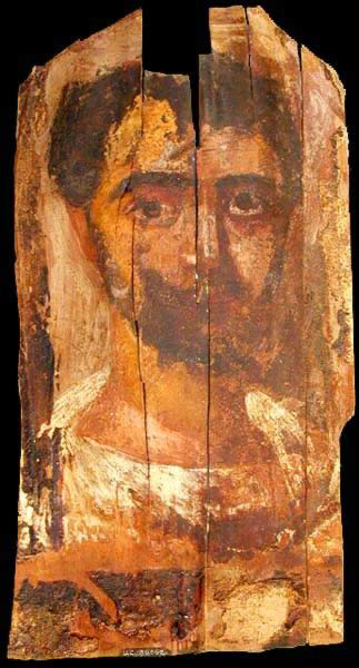 Funerary Portrait Painting of a Man from the Roman Period