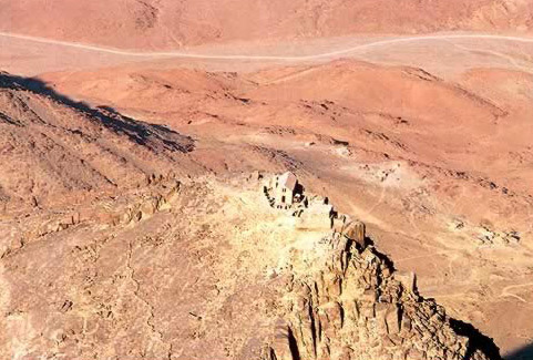 View from the Air of Mt. Sinai