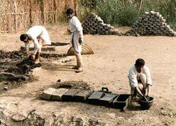 Making Mud Bricks in Ancient Egypt