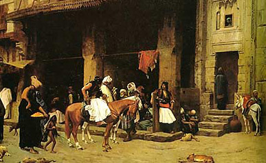 Albanian patrol in Cairo during the early 1870s