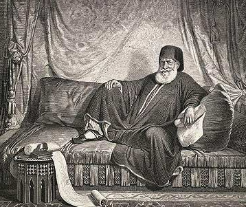 Another drawing of Muhammad Ali as Pasha