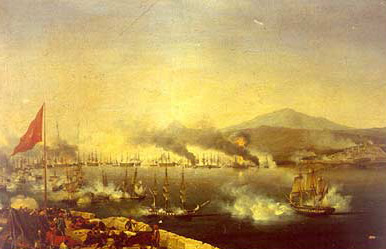 The Battle of Navarino by Carneray