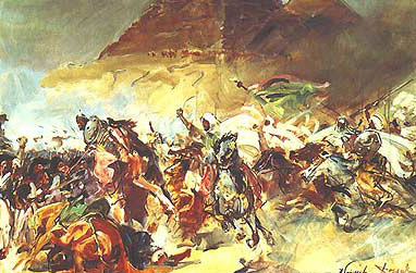 The Battle of the Pyramids by Wojciech Kossak in the National Museum, Warsaw
